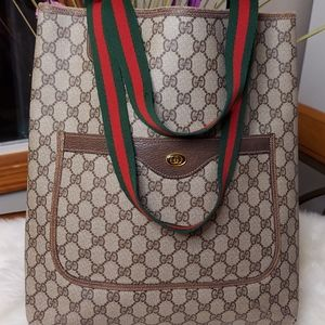 Gucci Authentic Vintage Sherry Line GG Tote